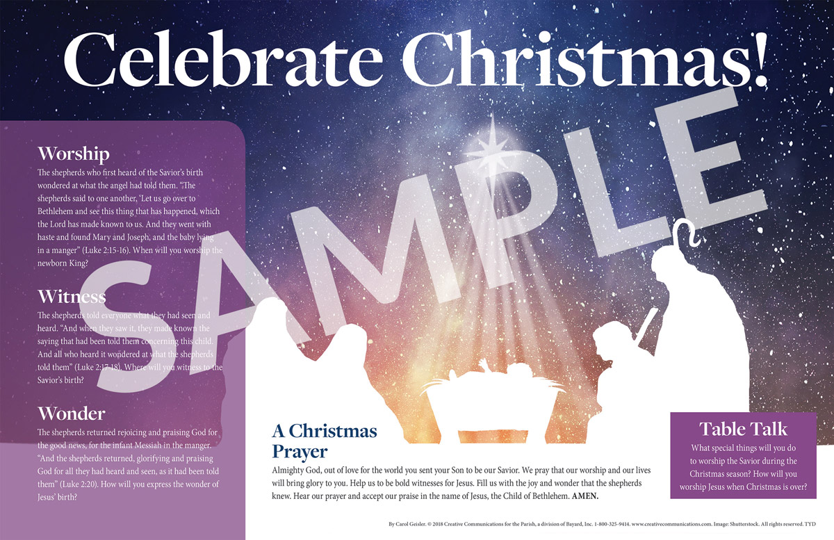 Christmas Placemat - Jpg file