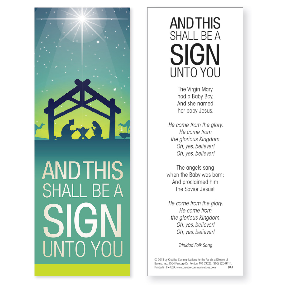 Christmas Bookmark - Jpg file