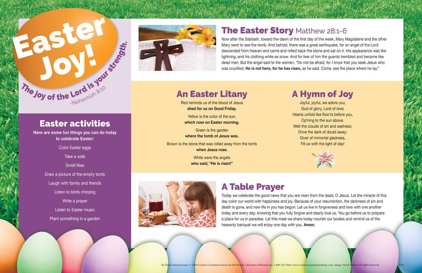 Easter Placemat (kid Friendly) - Jpg file