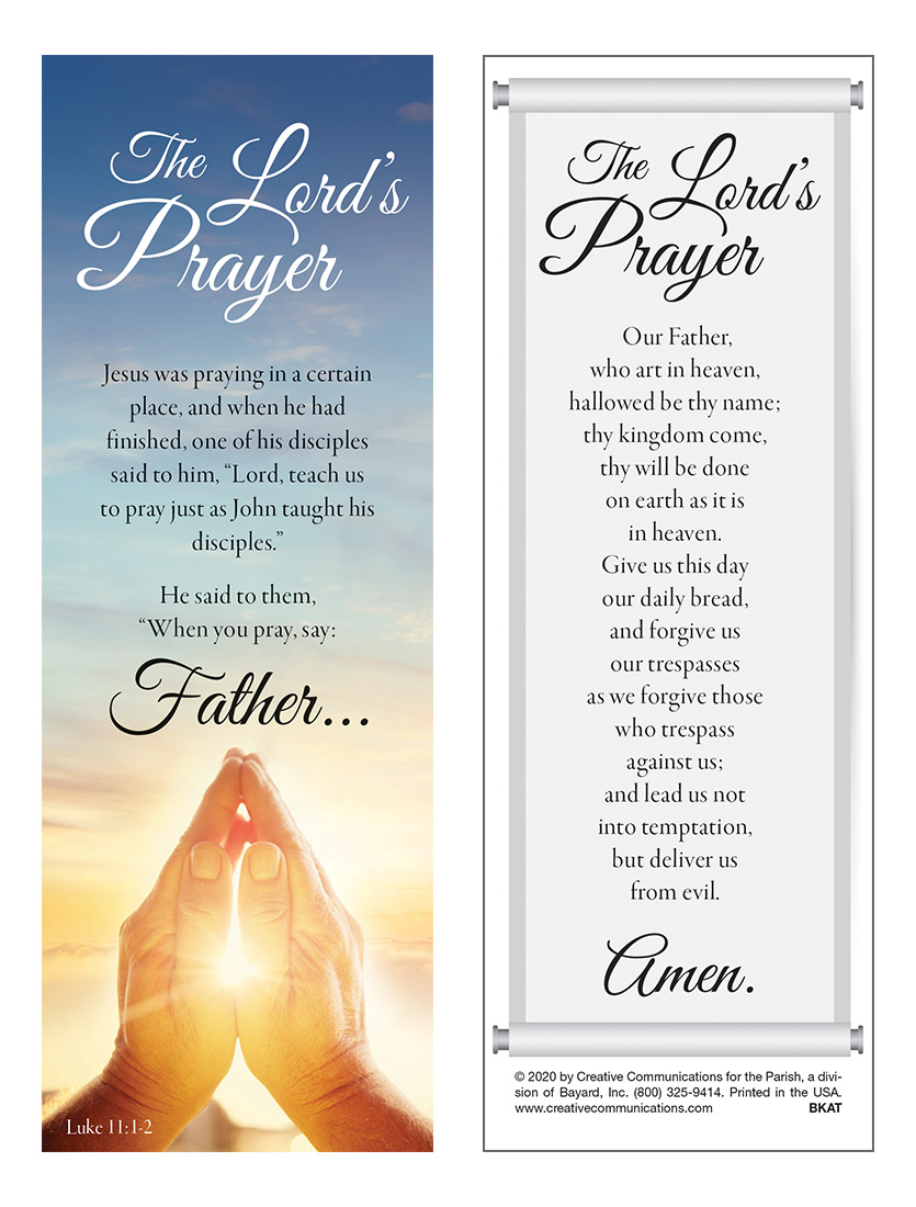 Lord's Prayer Bookmark - Jpg file
