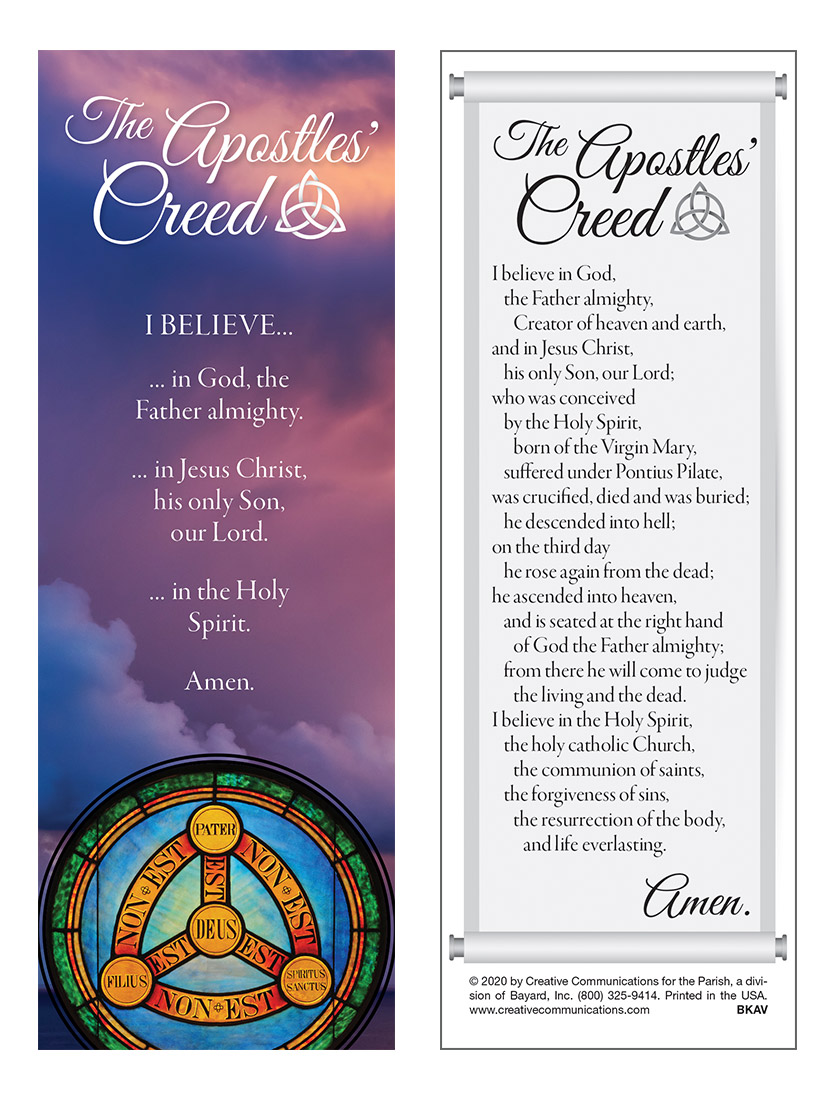 Apostles Creed Bookmark - Jpg file