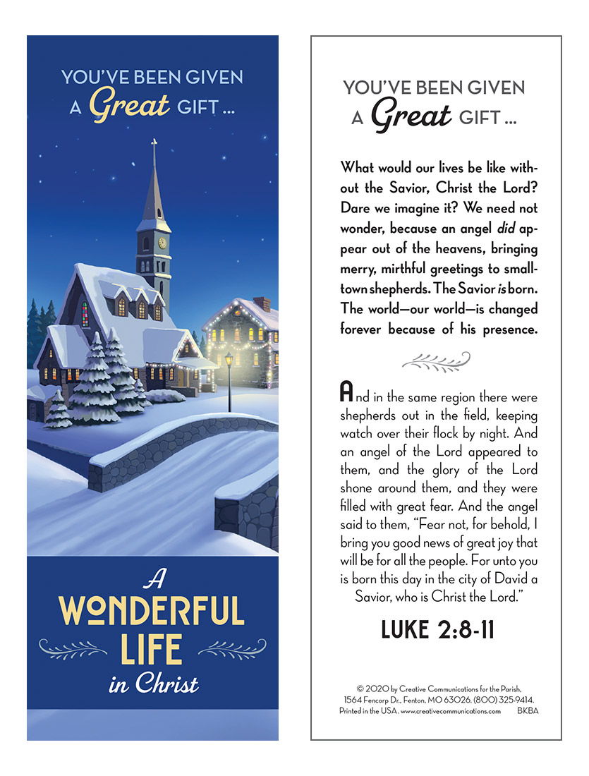 Our Greatest Gift: A Wonderful Life In Christ Bookmark - Jpg file
