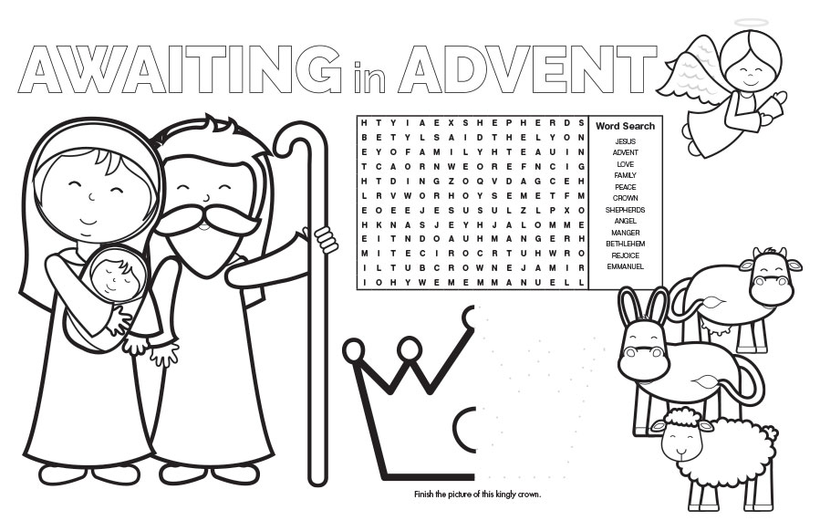 Advent Placemat - Jpg file
