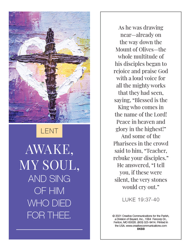 Lent Bookmark - Jpg file