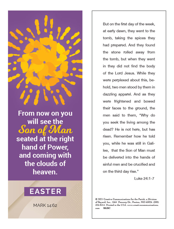 Easter Bookmark - Jpg file