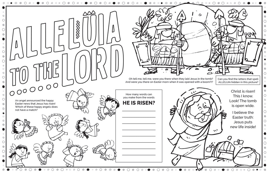 Easter Parish Event Placemat - Jpg file