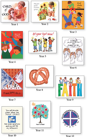 12 Years Of Baptismal Anniversary Cards