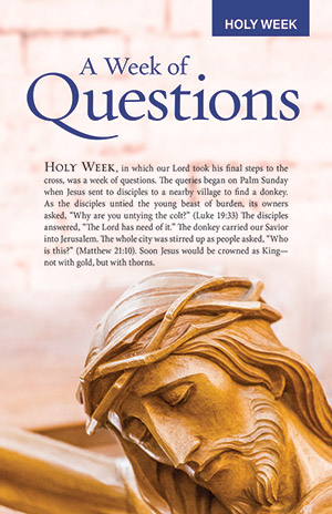 Holy Week Bulletin Insert