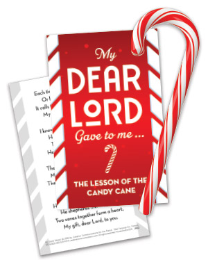 Candy Cane Card With Cane