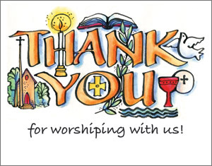 Thank You for Worshipping Card - Blank