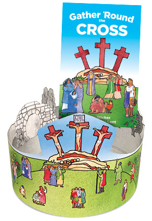 Gather Round The Cross: Poster And Booklet W/Sticker Sheet Combo
