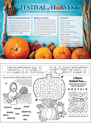 Harvest Celebration Placemat