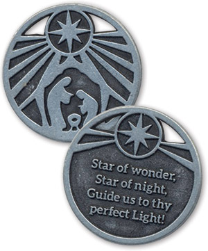 Star Of Wonder - Advent Metal Coin