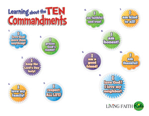 Learning About The Ten Commandments - Jpg file