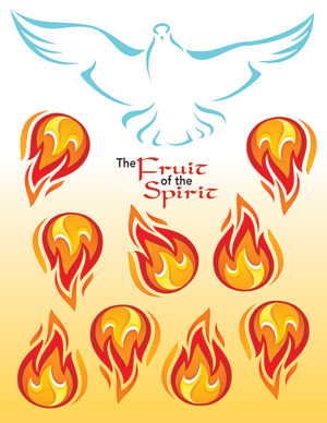 FRUIT OF THE SPIRIT Pentecost Mobile - Jpg file