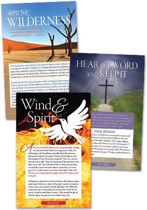 Lent; Holy Week ; Pentecost Bulletin Insert - Combo - Jpg file