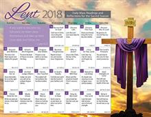 Lent 2018 Catholic Calendar
