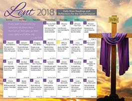 Lent 2018 Catholic Calendar Product/Goods : Creative
