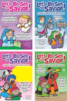 Advent Set Of Children's Bulletins-let's Go See