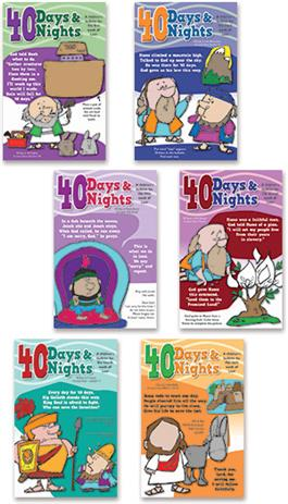40 Days 40 Nights Children's Bulletins
