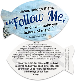 Follow Me: Lenten Fish Handout