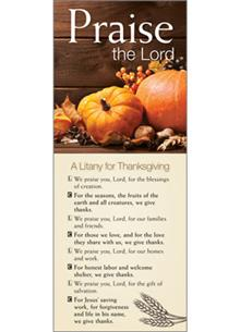 Thanksgiving Litany