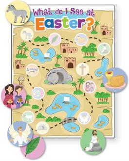 What Do I See At Easter - Activity Sheet + Stickers