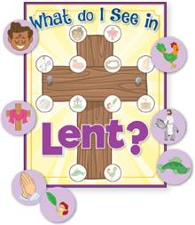 What Do I See At Lent - Activity Sheet + Stickers