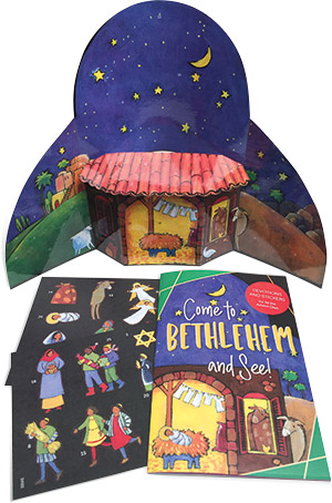Come To Bethlehem And See - Sticker Book And Poster Combo